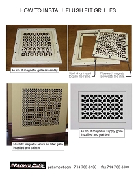 How To Install Flush Mount Magnetic Grilles
